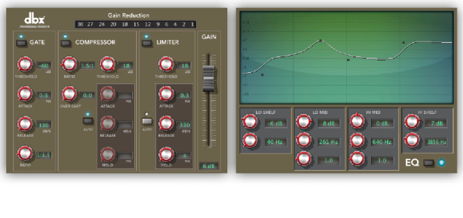 I-O Software Suite - dbx Digital Signal Processing