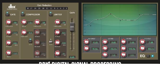 I-O Software Suite - dbx Digital Signal Processing