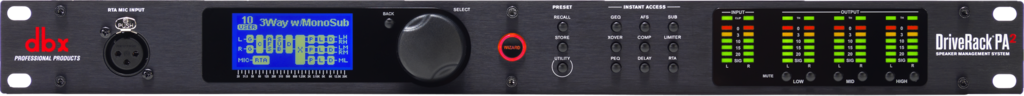 Driverack pa2 front full width