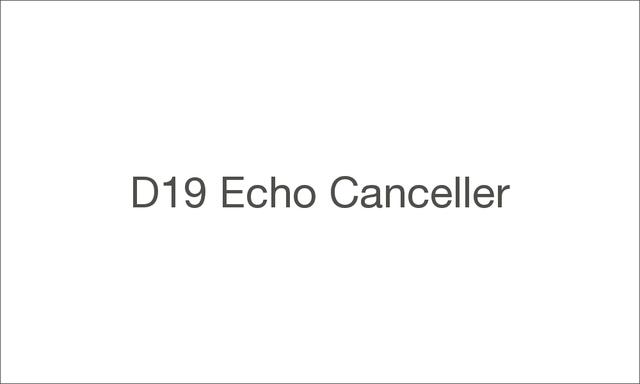D19 echo canceller 1000 large