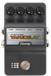 Tape delay label epedal